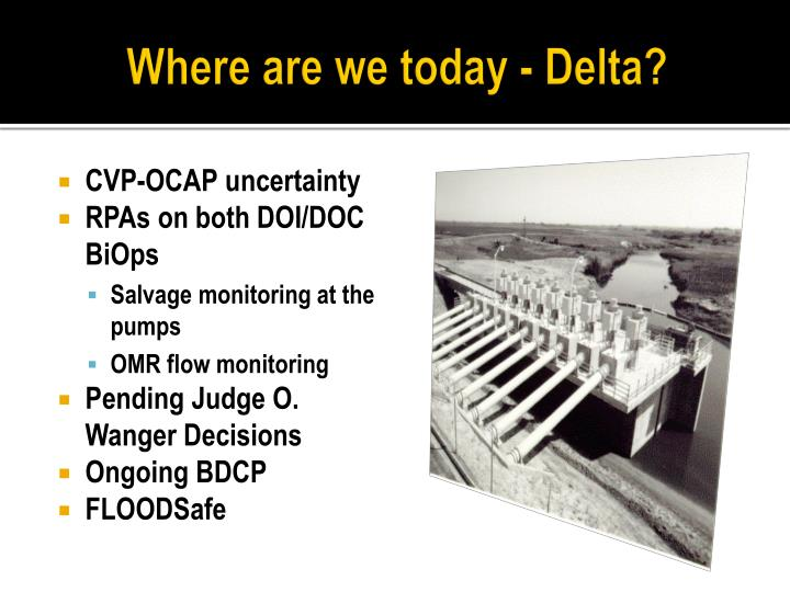 Where are we today - Delta?
