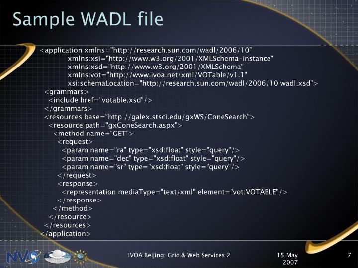 Sample WADL file