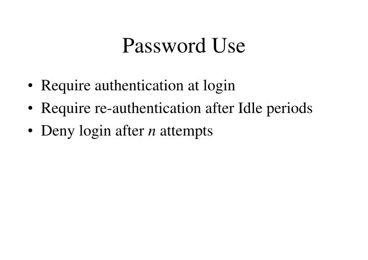 Password Use
