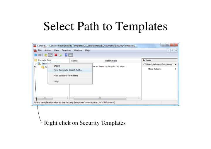 Select Path to Templates