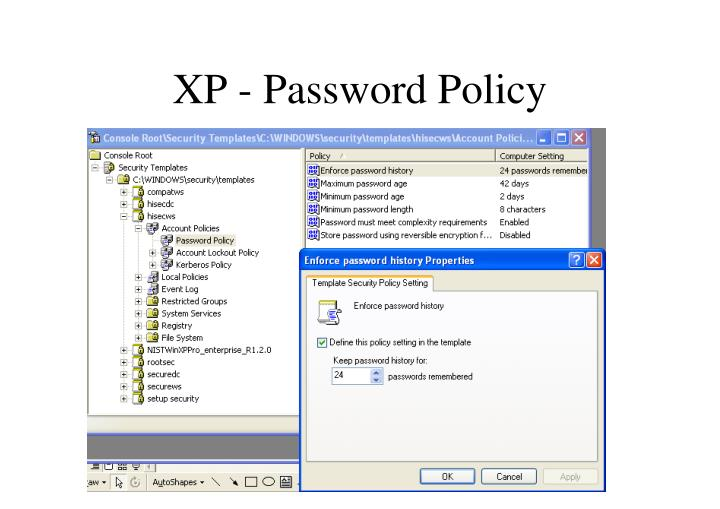 XP - Password Policy