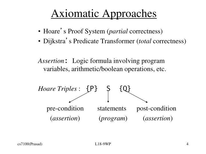 Axiomatic Approaches