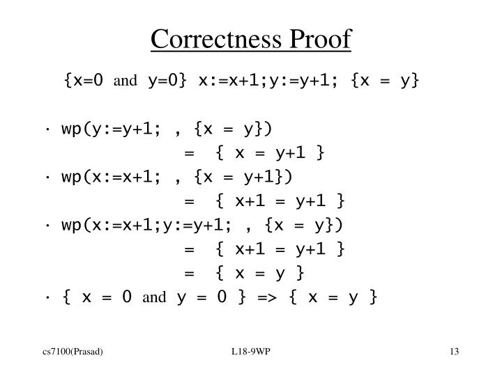 Correctness Proof