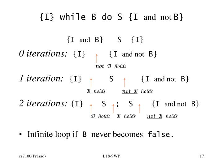 {I} while B do S {I
