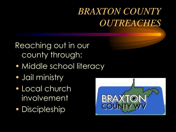 BRAXTON COUNTY OUTREACHES