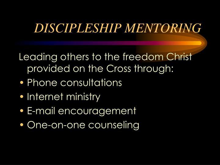 DISCIPLESHIP MENTORING