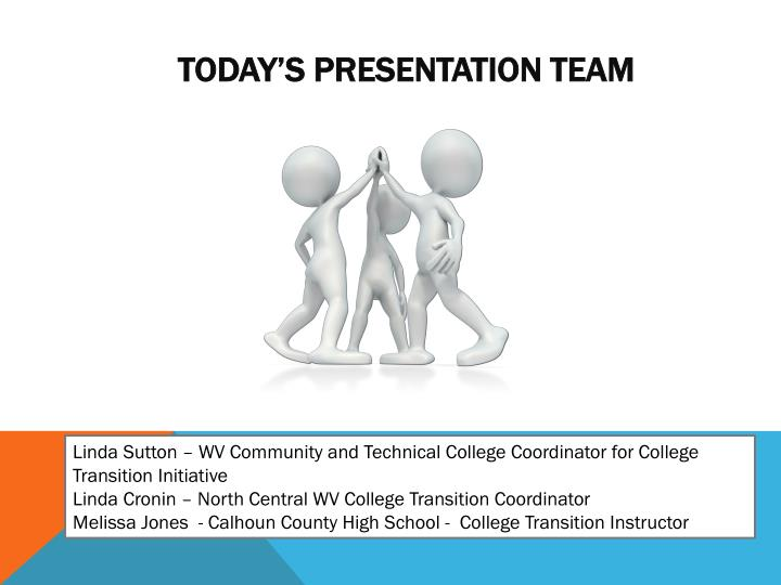 Today s presentation team