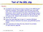 test of the gol chip