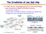 the irradiation of one sos chip