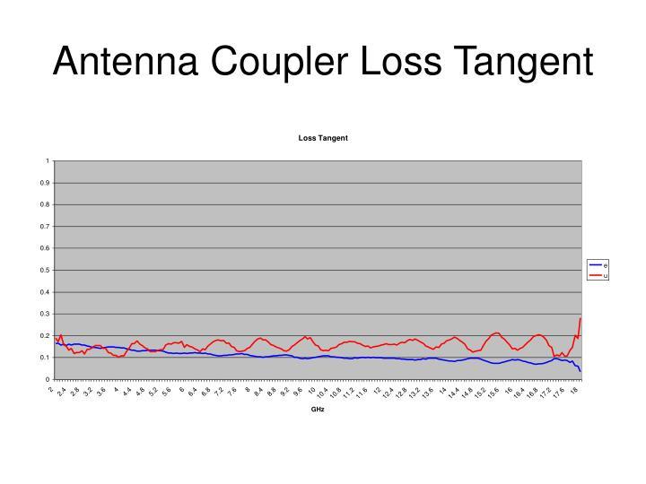 Antenna Coupler Loss Tangent