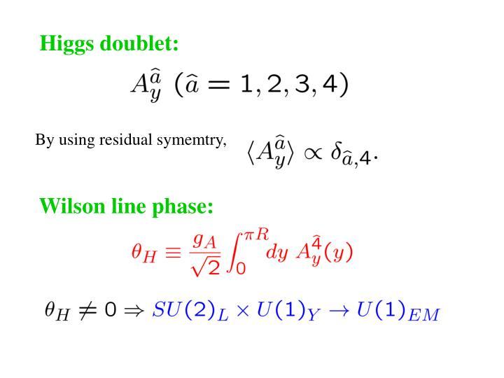 Higgs doublet: