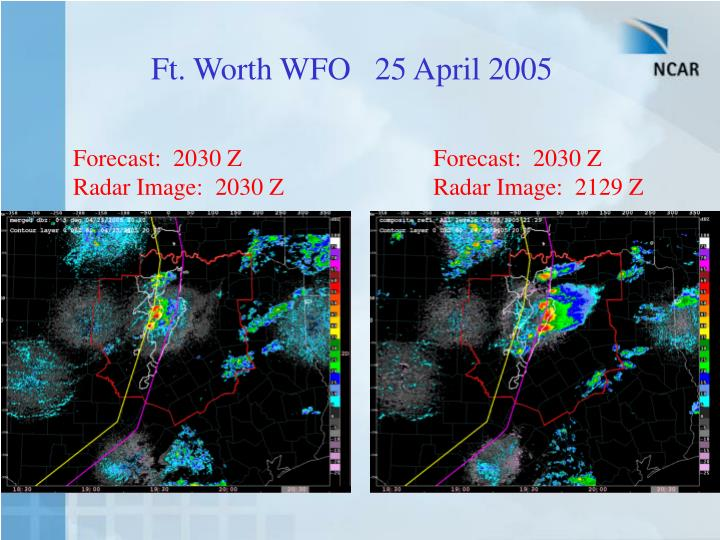 Ft. Worth WFO   25 April 2005