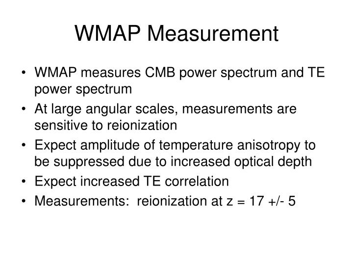 WMAP Measurement