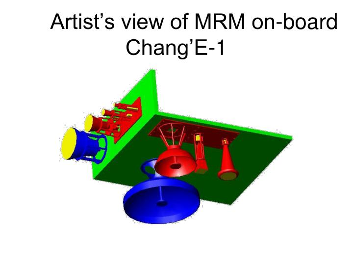 Artist's view of MRM on-board Chang'E-1