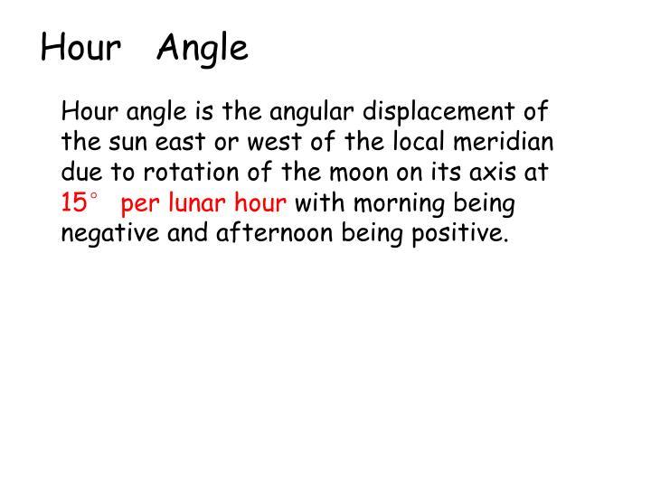 Hour   Angle
