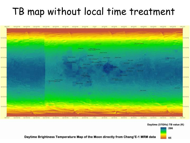 TB map without local time treatment