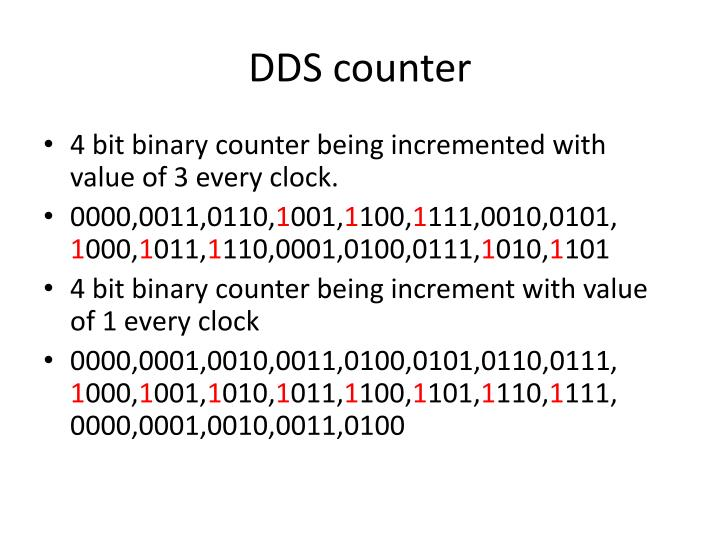 DDS counter