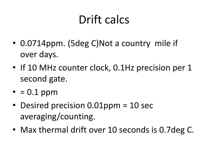 Drift calcs