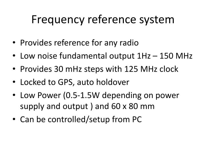 Frequency reference system
