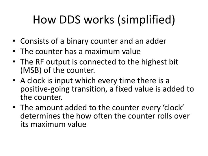 How DDS works (simplified)