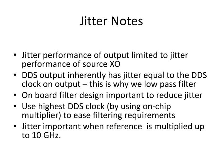 Jitter Notes