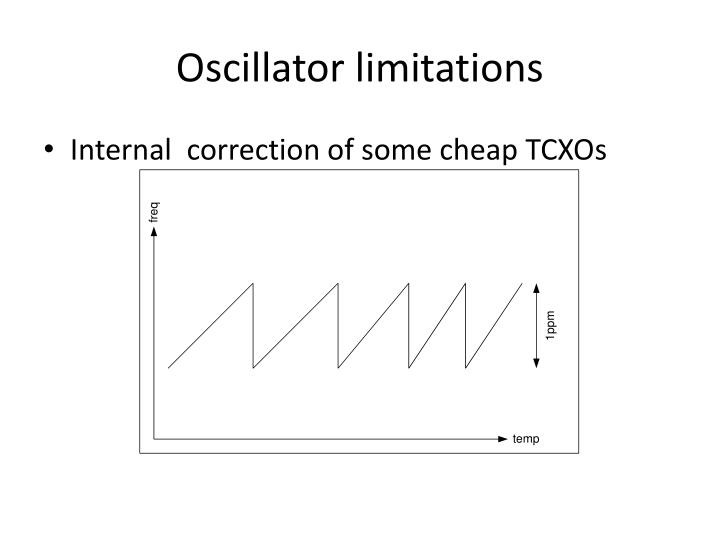 Oscillator limitations