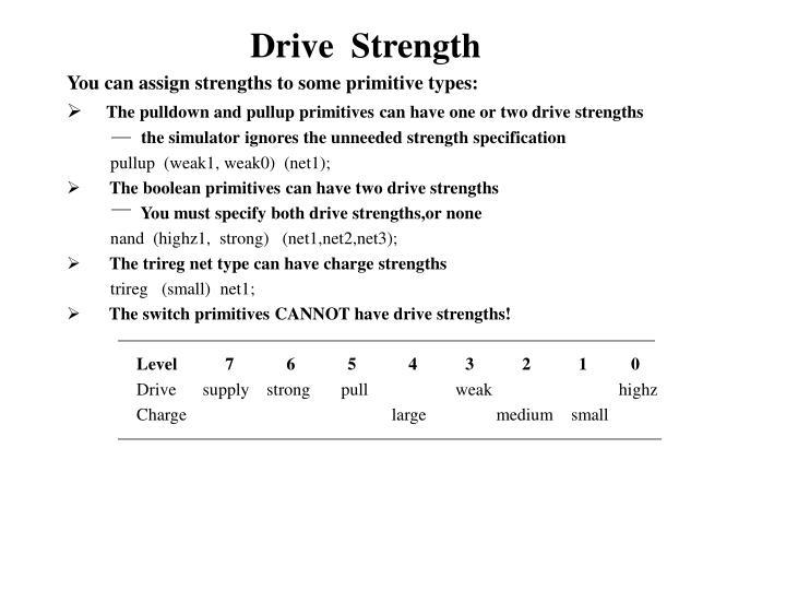 Drive  Strength