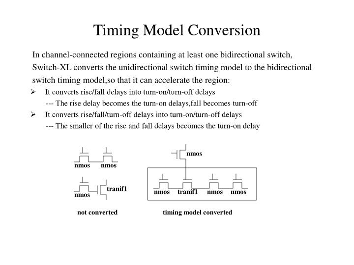 Timing Model Conversion
