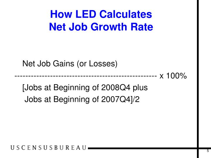 How LED Calculates