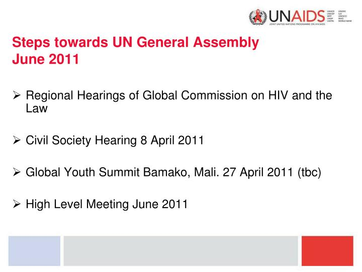 Steps towards UN General Assembly