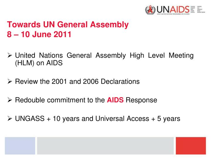 Towards UN General Assembly