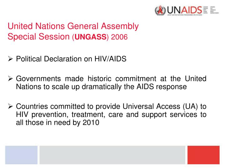 United nations general assembly special session ungass 2006