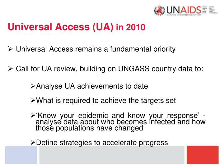 Universal Access (UA)