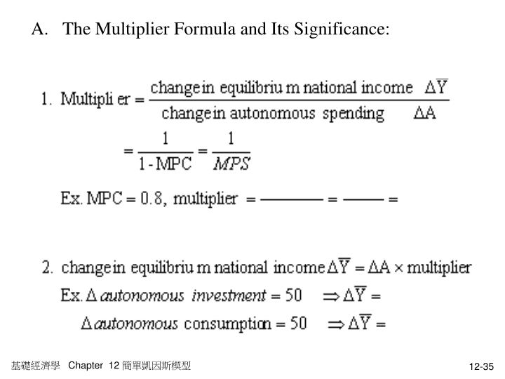 The Multiplier Formula and Its Significance: