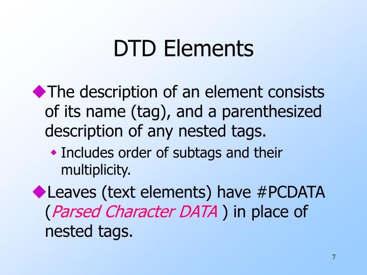 DTD Elements