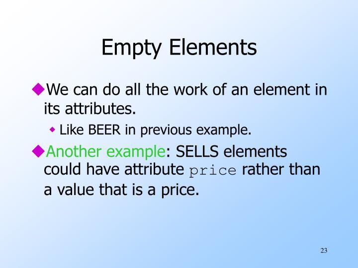 Empty Elements