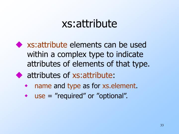 xs:attribute
