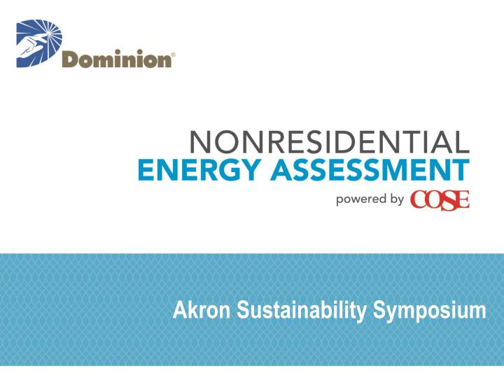 Akron sustainability symposium