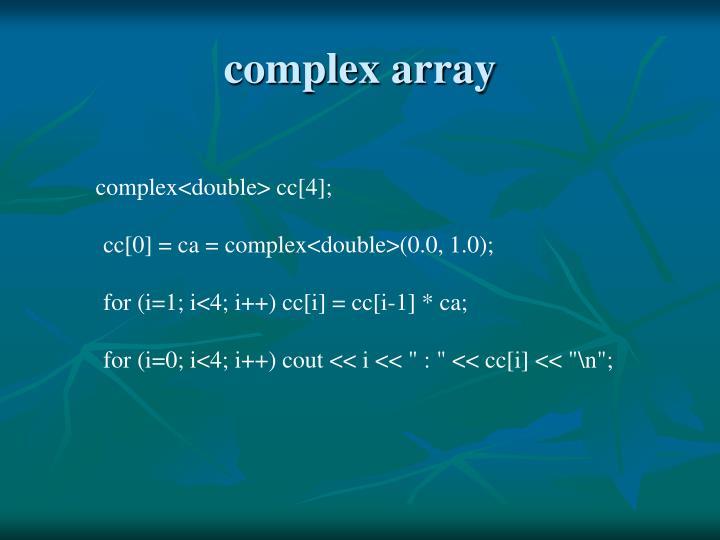 complex array