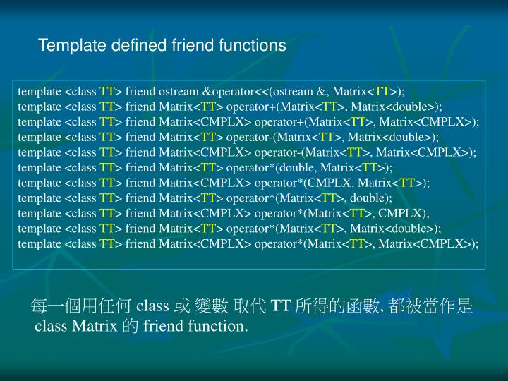 Template defined friend functions