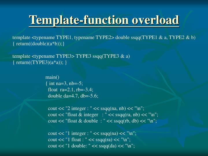 Template-function overload