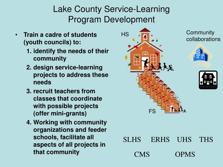 Lake county service learning program development