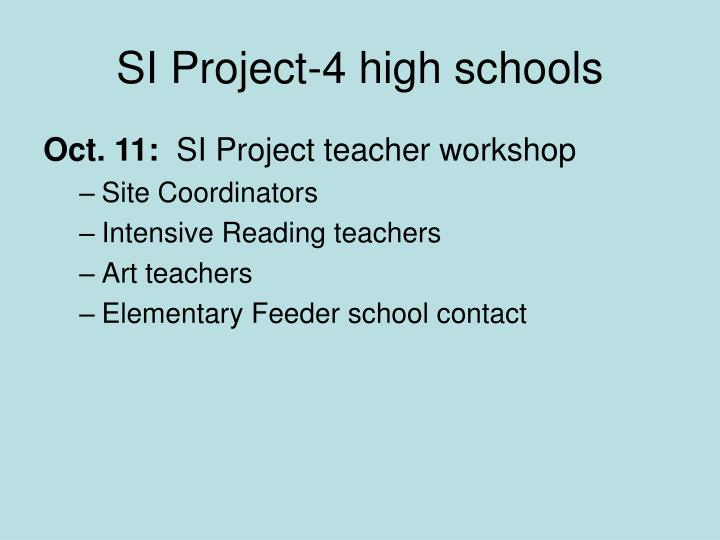 SI Project-4 high schools