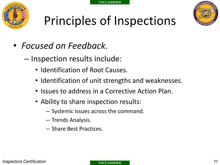 Principles of Inspections