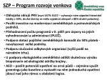 szp program rozvoje venkova