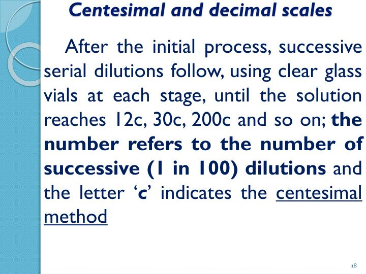 Centesimal and decimal scales