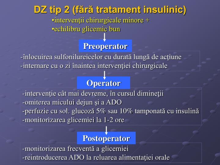 DZ tip 2 (fără tratament insulinic)