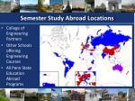 semester study abroad locations