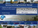 service learning volunteer abroad