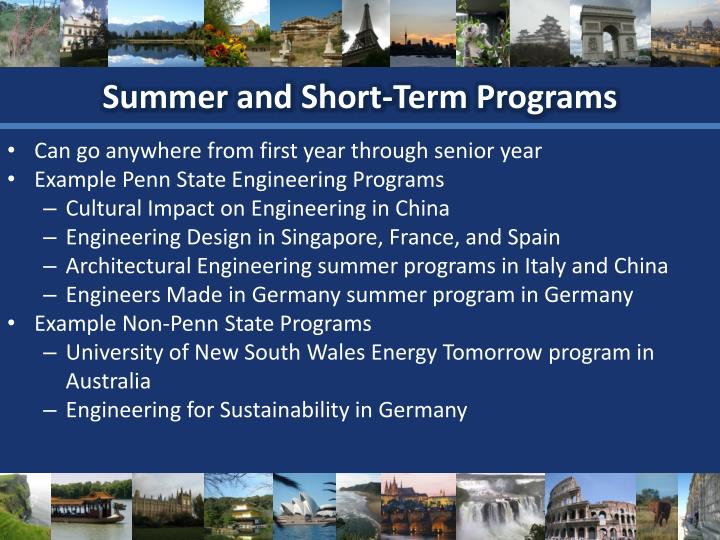 Summer and Short-Term Programs